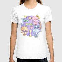 pastel goth T-shirts featuring Pastel Skulls by Tumbling Tortoises