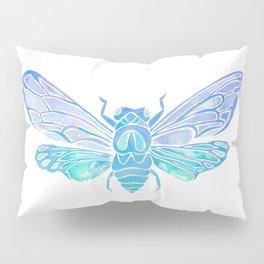 Summer Cicada – Blue Ombré Palette Pillow Sham