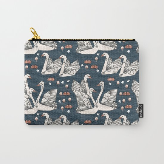 Origami Swans by Andrea Lauren Carry-All Pouch