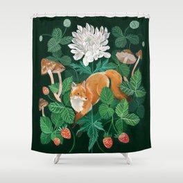 Strawberry Fox Shower Curtain