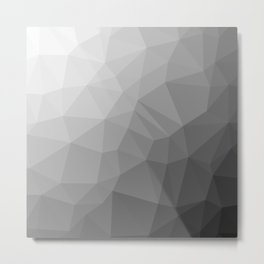 LOWPOLY BLACK AND WHITE Metal Print