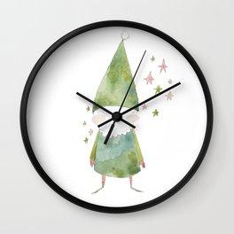Bird Elf Wall Clock