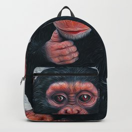 Chimpanzee Art Backpack