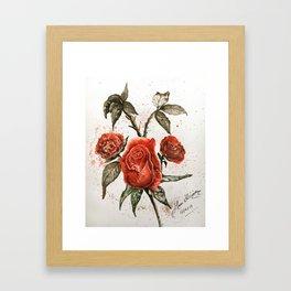 Red roses Gerahmter Kunstdruck