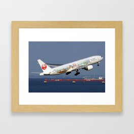 Japan Airlines - JAL Boeing 777-246 Framed Art Print