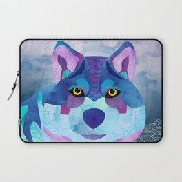 SHANTI SPARROW: Shadow the Wolf Laptop Sleeve