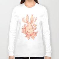 jackalope Long Sleeve T-shirts featuring Jackalope Tattoo by jackalopebuddy