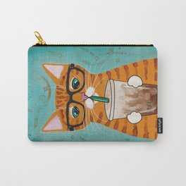 Iced Coffee Cat Carry-All Pouch