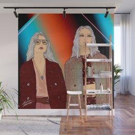 Social Jetlag - Mean Girls Stare, Nice Girls Smile - Digital Art Wall Mural