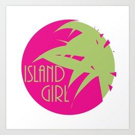 Island Girl Sun Logo Art Print