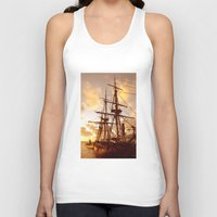 pirate ship Tank Tops featuring PIRATE SHIP :) by Teresa Chipperfield Studios