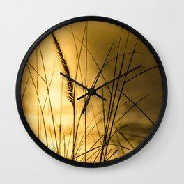 Golden Herbs Wall Clock