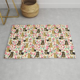 Yorkshire Terrier cute florals must have gifts for dog lover yorkie owners delight secret gifts art Rug