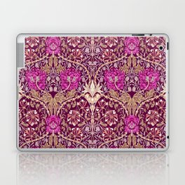 Art Nouveau Floral, Plum, Beige and Deep Purple Laptop & iPad Skin