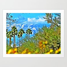 Californian Landscape Art Print