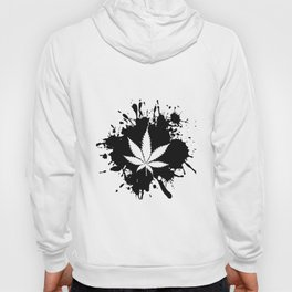 Canabis Black and white Hoody