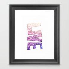 live doodle Framed Art Print