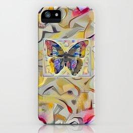 Kandinsky Butterfly iPhone Case