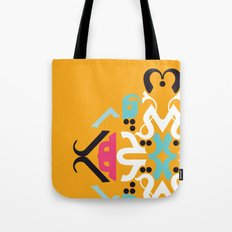 Orange Arabic Tote Bag