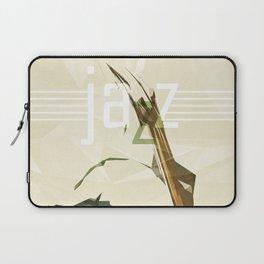 Contrabassist. Jazz Club Poster Laptop Sleeve