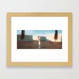 Hexa Plaza Framed Art Print