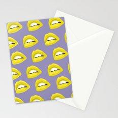 golden lips pattern Stationery Cards