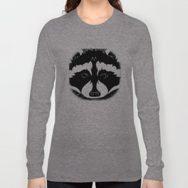 Stylized Raccoon Long Sleeve T-shirt