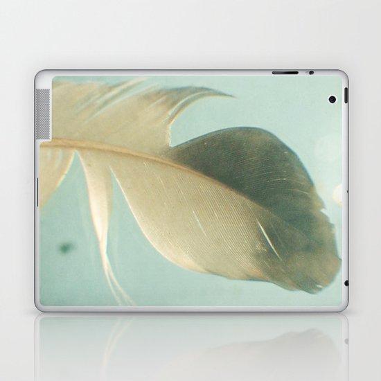 Grey Feather Laptop & iPad Skin