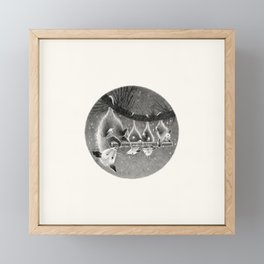 "FS. ""Lullaby"" opossum family with flut Framed Mini Art Print"