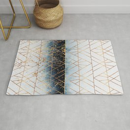 Winter Blue Geo Rug