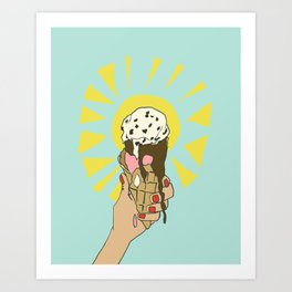 Hot Summer Day Art Print