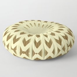 Golden Rosette Mandala Floor Pillow