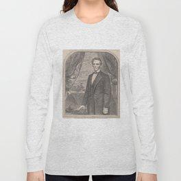 Vintage Abraham Lincoln Illustrative Portrait (1860) Long Sleeve T-shirt