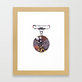 Medal Brooch  Framed Art Print