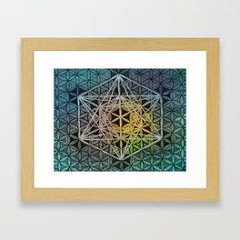 Enlightened Metatron's Cube Framed Art Print
