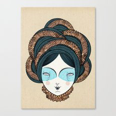 The long hair girl Canvas Print