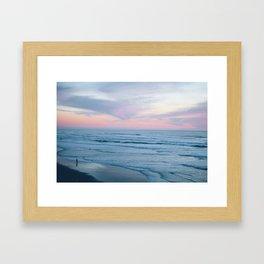 Ocean + Sunset Framed Art Print