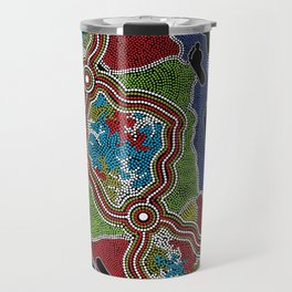 Aboriginal Art Authentic - Walking the Land Travel Mug
