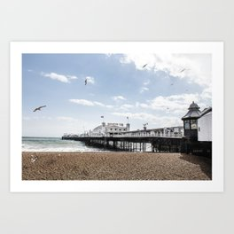Brighton beach pier Art Print