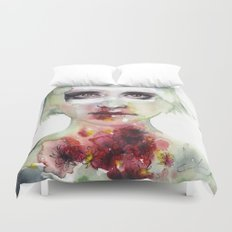 keeping inside this wild flowering Duvet Cover