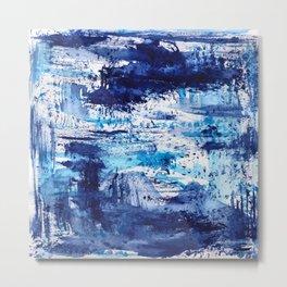 Blue passion || watercolor Metal Print