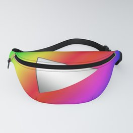 Video play button with colorful rainbowcolor!  Fanny Pack