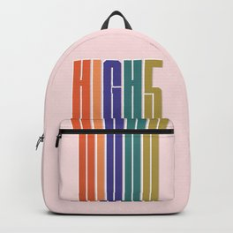 HIGH 5 modern typography Backpack