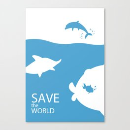 Save the world Canvas Print