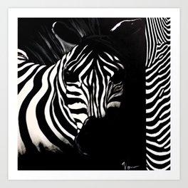 Safari Zebra  Art Print