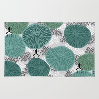amy pond Area & Throw Rugs featuring pond by frameless