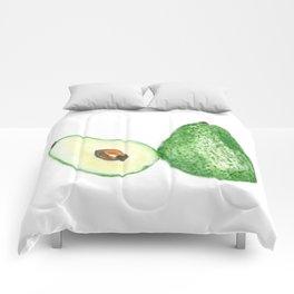 Avocado in watercolor Comforters