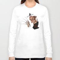 freddy krueger Long Sleeve T-shirts featuring Freddy by iankingart