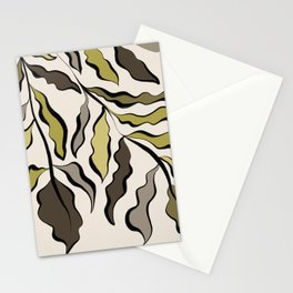 Green Leaves #2 Stationery Cards