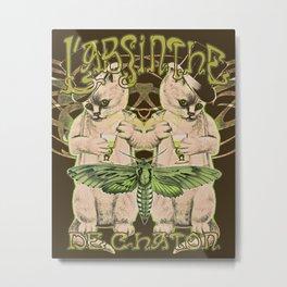 Kitten's Absinthe Metal Print